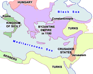 Byzantine Empire in 1180